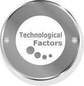 Technological factors metallic button — Stock Photo