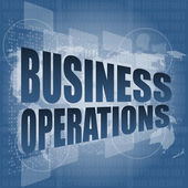 Business operations word on digital touch screen — Stock Photo
