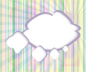 Abstract speech bubbles in the shape of clouds used in a social networks on light blue background. Cloud computing concept — Stock Photo