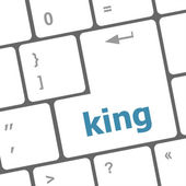 King word on computer keyboard original illustration — 图库照片