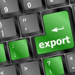 Stock Photo: Green export keyboard button