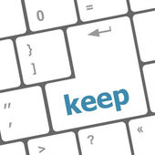 Wording keep on computer keyboard — Stock Photo