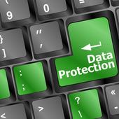 Data protection button on the keyboard — Stock Photo