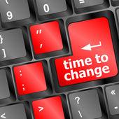 время концепция: компьютерной клавиатуры с словом время управления — Стоковое фото