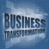 Business transformation words on touch screen interface — Stock Photo