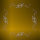 Carta di invito d'oro d'epoca — Foto Stock