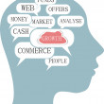 Word cloud business concept inside head shape — Stock Photo