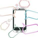telefone inteligente móvel moderno. envio e recebimento de mensagens sms — Foto Stock