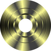 Gold vinyl record isolated on white background — Stock Photo