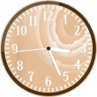 Stock Photo: Wall retro wood clock