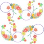 Romantic Flower Background seamless retro floral pattern — Stock Photo