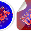 Made in the USA icon label stickers set — Stock Photo