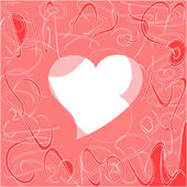 Heart love card, valentine day abstract background — Stock Photo
