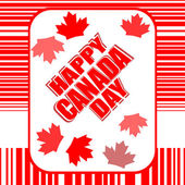 Happy Canada Day card — Stock Photo