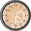 Wooden wall clock — Stock Photo