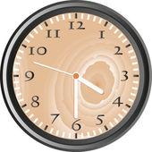 Wooden wall clock — Stock Photo