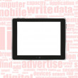 Stock Photo: Black abstract tablet pc