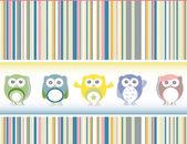 Cute owl card — Stock Photo