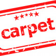 Carpet on red rubber stamp over a white background — Stock Photo