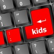 Kids key button in a computer keyboard — Stock Photo #27191891