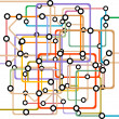 Colorful abstract subway map — Stock Photo