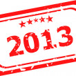 Happy new year 2013  stamp — Stock Photo