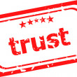 Trust red rubber stamp over a white background — Stock Photo