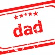 Dad word on red rubber stamp over a white background — Stock Photo