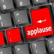 Foto de Stock  : Business concept: applause words on digital screen, 3d