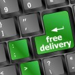Стоковое фото: Free delivery key on laptop keyboard button