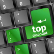 Stock Photo: Top discount word key or keyboard, discount concept