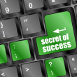 Secret of success button on computer keyboard key — Stock Photo