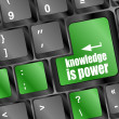 Knowledge is power button on computer keyboard key — Stock Photo