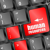 Human resources button on computer keyboard key — Stock Photo
