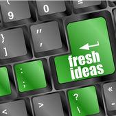 Bouton des idées fraîches sur la touche de clavier d'ordinateur — Photo