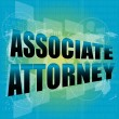 Associate attorney words on digital screen — Stock Photo #30702699