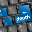 Death button on computer keyboard pc key — Stock Photo