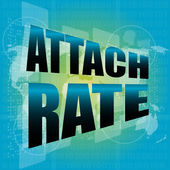 Attach rate words on digital touch screen — Stock Photo