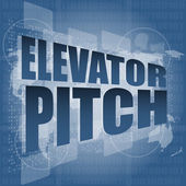 Elecator pitch words on touch screen interface — Stock Photo