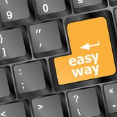 Easy way button on computer keyboard pc key — Stock Photo