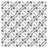 Seamless geometric black and white pattern — Stock Photo
