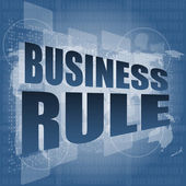 Business rule interface hi technology — Stock Photo