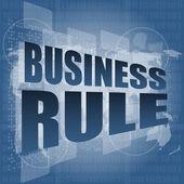 бизнес правило интерфейс привет технологий — Стоковое фото