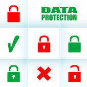 Security concept: Lock set on digital screen, data protection — Stock Photo