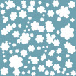 elegant seamless pattern with abstract flowers in soft blue colors — Stock Photo