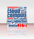 Cloud computing concept design, flyer or cover — Stock Photo