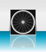 Bike wheel - flyer or cover design — Zdjęcie stockowe