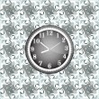 Modern wall clock on the grunge background — ストック写真