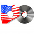 Vinyl bubbles in usa flag cover — ストック写真