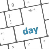 Day button on computer pc keyboard key — Stock Photo